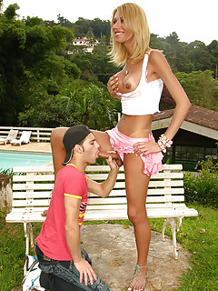 Male Sucks Shemale